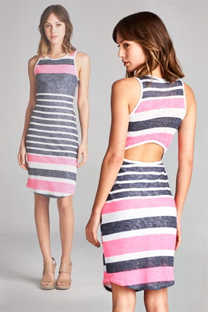 NEON KNIT TANK DRESS - orangeshine.com