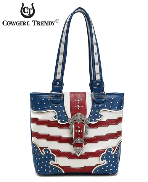 American Flag Tote Bag - orangeshine.com