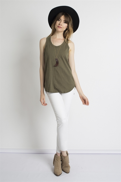 WASHED COTTON SLUB TOP - orangeshine.com