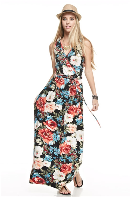 Sleeveless Maxi Dress - orangeshine.com