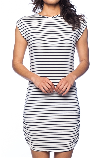 STRIPE SHORT DRESS / TUNIC TOP - orangeshine.com