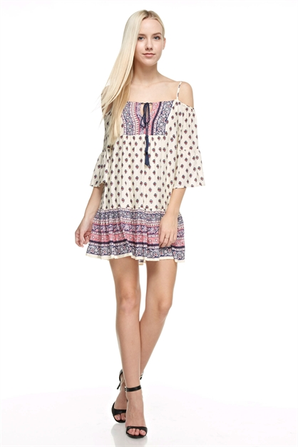 Print Loose Fit Dress - orangeshine.com