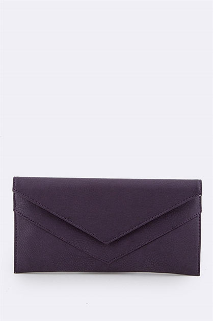 Double Flap Soft City Clutch - orangeshine.com