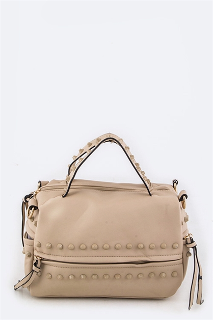 Studded Convertible Handbag - orangeshine.com