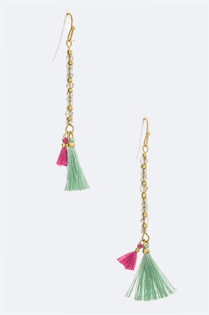 Double Tassel Earring - orangeshine.com