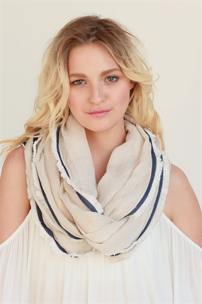 DENIM /FRAYED INFINITY SCARF - orangeshine.com