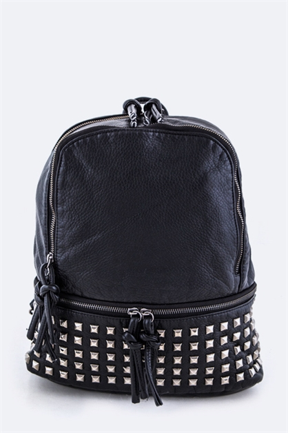Pyramid Studded Backpack - orangeshine.com