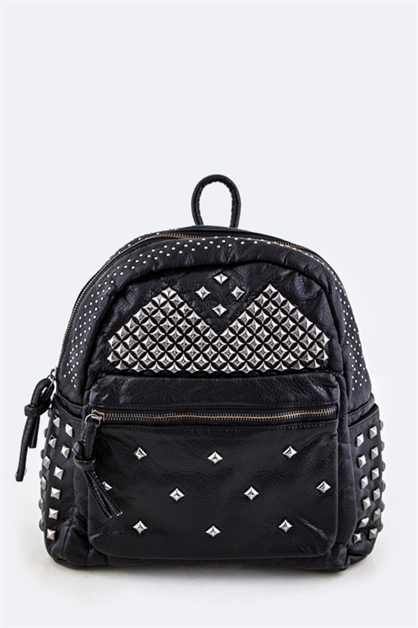 Mix Studded Backpack - orangeshine.com