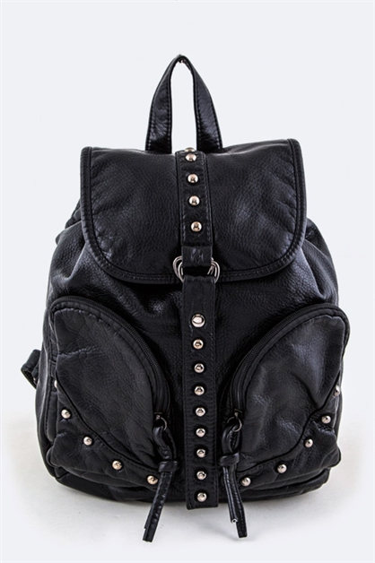 Studded Fashion Backpack - orangeshine.com