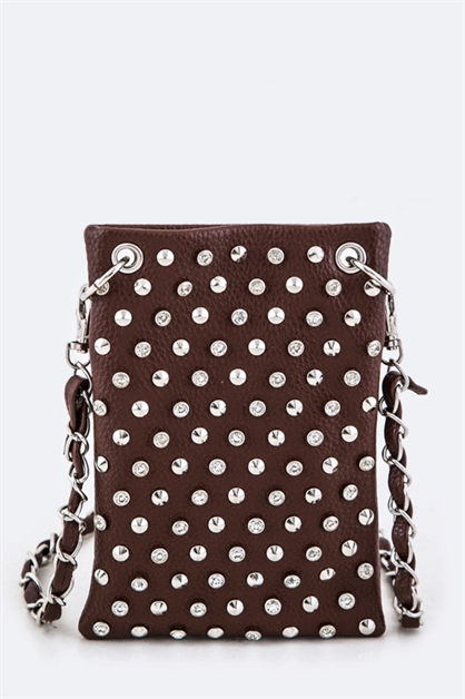 Mix Studs Leather Swing Bag - orangeshine.com