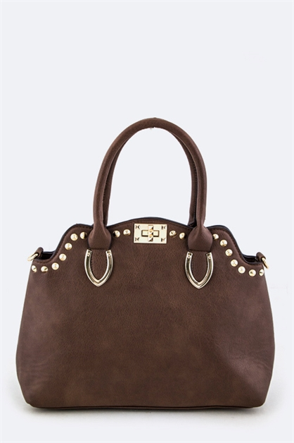 Studded Fashion Hand Bag - orangeshine.com