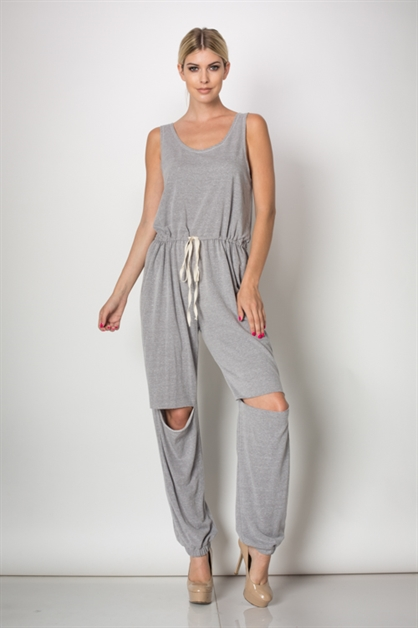 Drawstring Jumpsuit - orangeshine.com