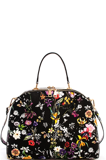 Multi Flower Satchel - orangeshine.com