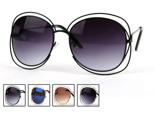 Oversize Metal Sunglasses - orangeshine.com