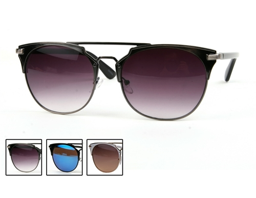 Round Aviator Sunglasses - orangeshine.com