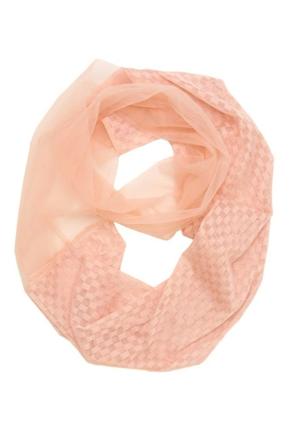 Checker Lace Infinity Scarf - orangeshine.com