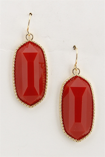 Oval Shape Hook Earring - orangeshine.com