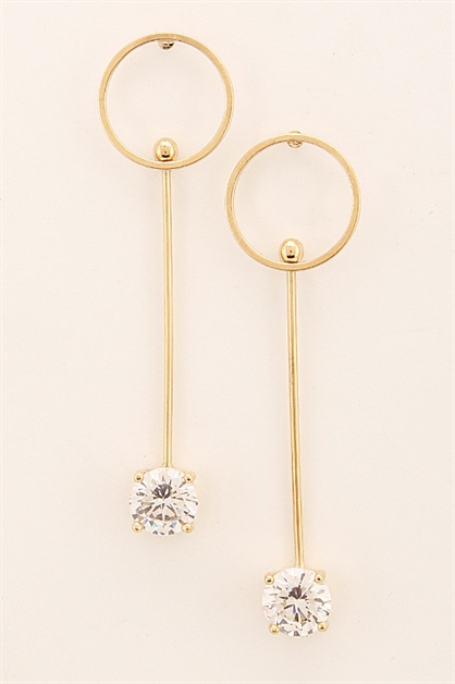 Thin Rhinestone Earrings - orangeshine.com