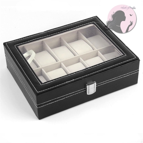 Watch Ring Display Case w Lock - orangeshine.com