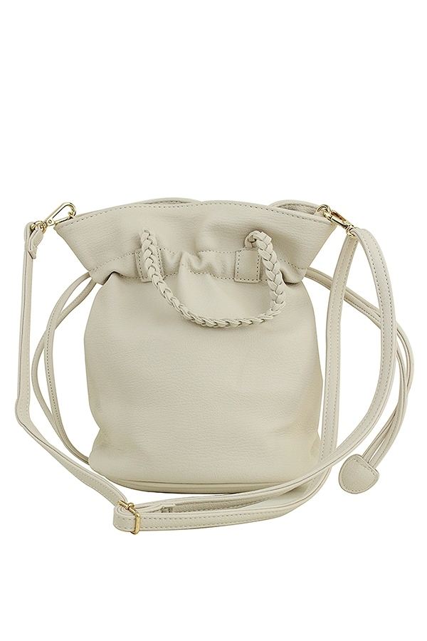 DRAWSTRING CLOSURE BUCKET CROSSBODY - orangeshine.com