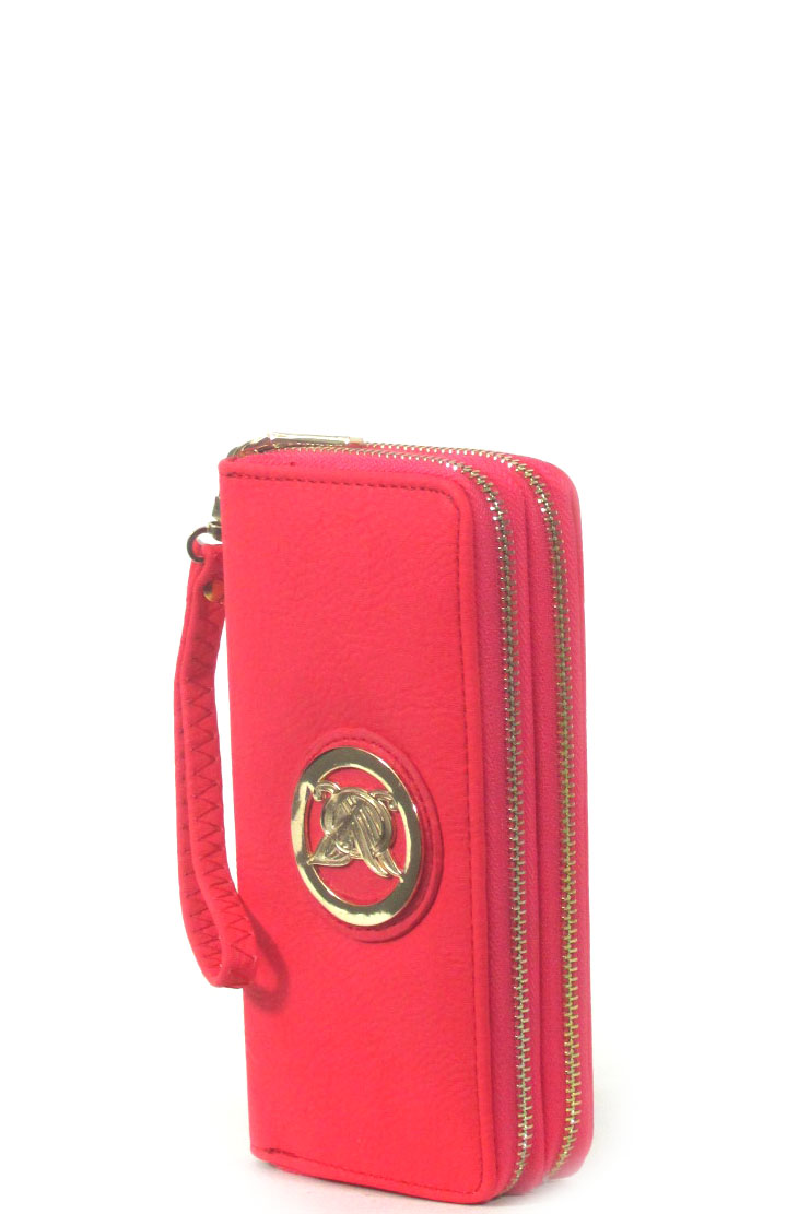 logo double zipper wallet - orangeshine.com