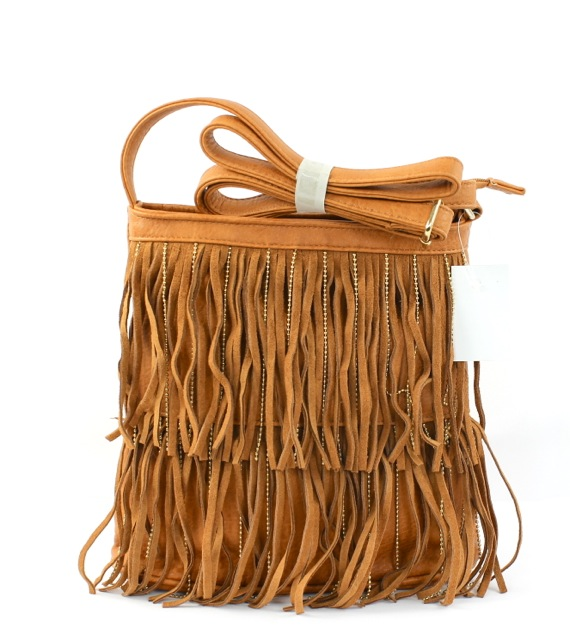 SUEDE AND CHAIN FRINGE TOTE BA - orangeshine.com