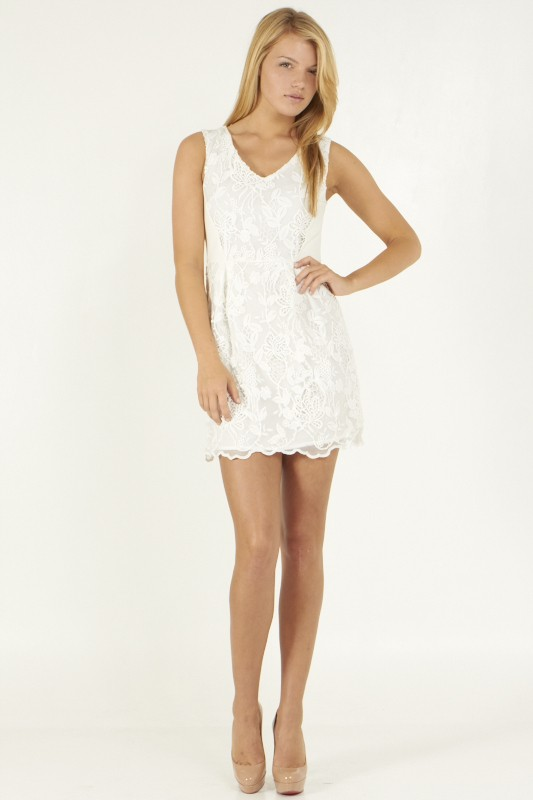 Floral Laced Dress - orangeshine.com