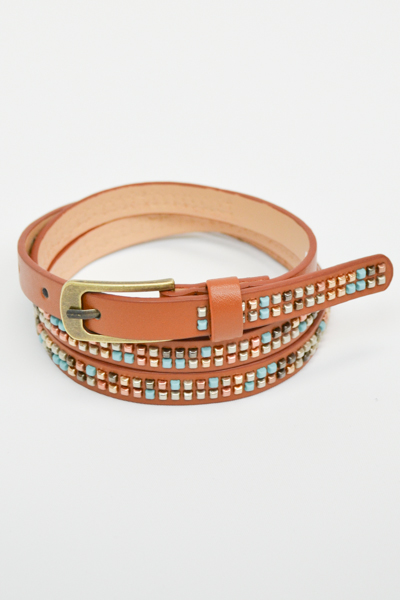 STUDDED SKINNY BELT - orangeshine.com