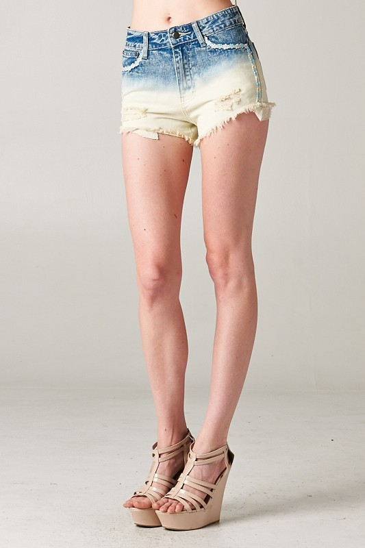 2 tone washed denim short pant - orangeshine.com