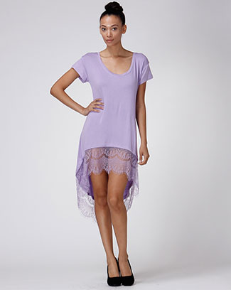 HI-LOW TUNIC W/LACED HEM - orangeshine.com