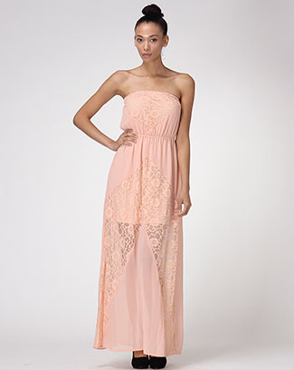 Bohemian Tube Top Maxi Dress - orangeshine.com