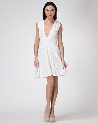 LACE V-NECK DRESS - orangeshine.com