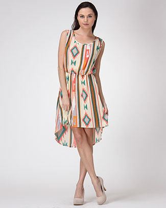 SLEEVELESS BINDING DRESS W/ LINING - orangeshine.com