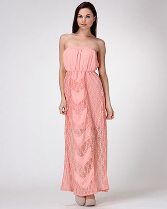 TUBE TOP MAXI DRESS - orangeshine.com