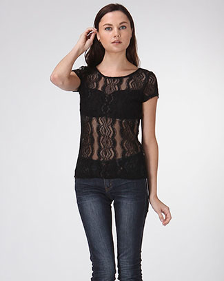See It Through Lace Top - orangeshine.com
