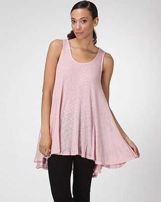 SOLID DRAPED TUNIC TOP - orangeshine.com