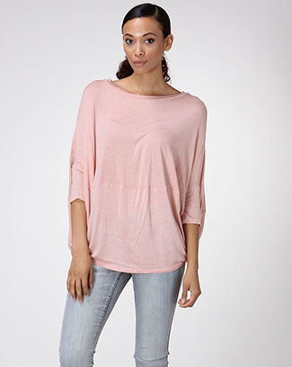 3/4 SLEEVE SOLID TOP - orangeshine.com