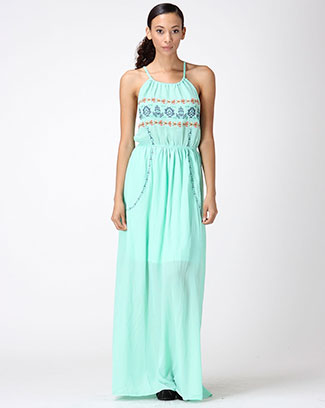 EMBROIDERY BACK CRISS CROSS DRESS - orangeshine.com