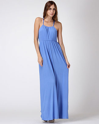 HALTER NECK TIE MAXI DRESS - orangeshine.com