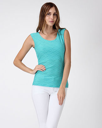 Textured tank top. - orangeshine.com