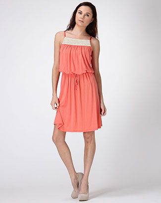 crochet front &tie waist dress - orangeshine.com