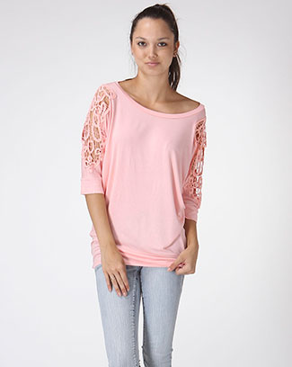 DOLMAN TOP W/ DETAIL SHOULDER - orangeshine.com