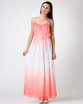 SPAGHETTI STRAP OMBRE MAXI DRESS - orangeshine.com