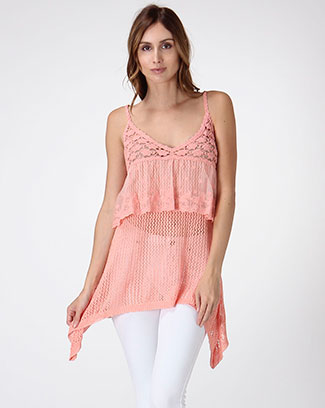 CROCHET LAYERED TOP - orangeshine.com