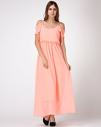 Open Shoulder Maxidress - orangeshine.com