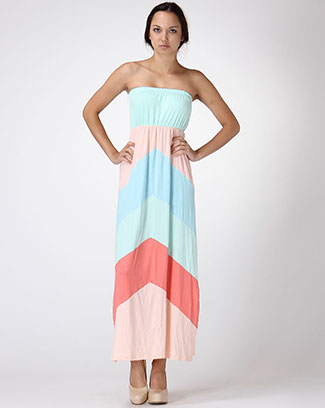 STARPLESS COLORBLOCK MAXI DRESS - orangeshine.com