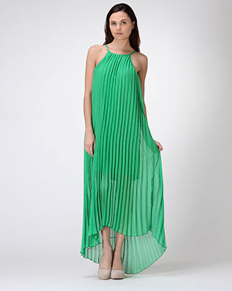 PLEATED STATEMENT DRESS - orangeshine.com