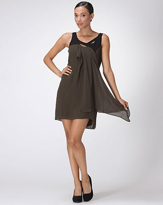 SHEATH TANK DRESS WITH RUFFLE - orangeshine.com