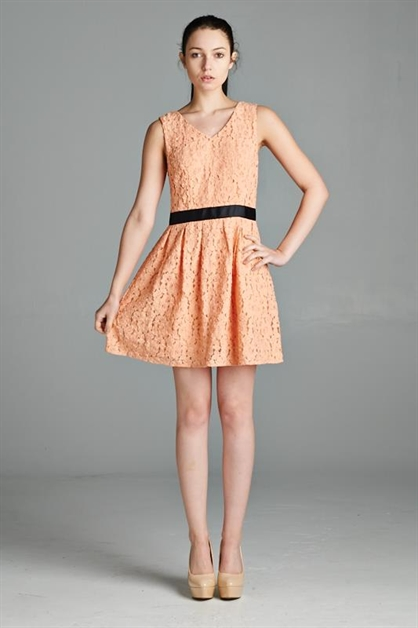 PLEASANT LACE DRESS - orangeshine.com