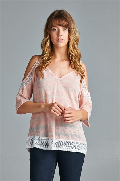 SHEER STRIPED TUNIC - orangeshine.com